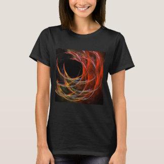 Quebrando a arte abstracta do círculo tshirts