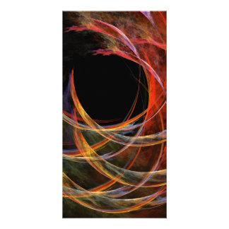 Quebrando o cartão com fotos da arte abstracta do cartão com foto
