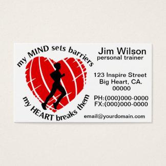 Quebrando o negócio pessoal do instrutor das cartão de visitas