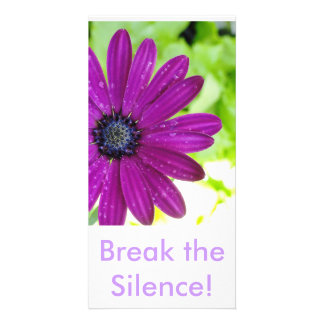 Quebre o cartão do silêncio cartão com foto