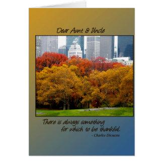 Queda da acção de graças no Central Park para a ti Cartao