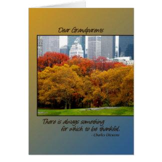 Queda da acção de graças no Central Park para avós Cartões