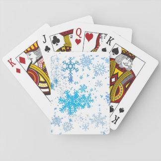 Queda de neve do Natal Cartas De Baralho