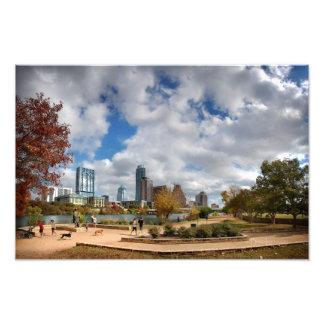 Queda do centro 4 de Austin Texas das costas do Impressão De Foto