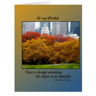 Queda grande da acção de graças no Central Park pa Cartao