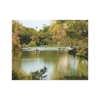 Queda no Central Park Impressão De Canvas Envolvidas