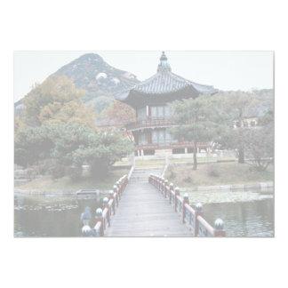 Queda, palácio de Kyongbok Convite 12.7 X 17.78cm
