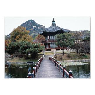Queda, palácio de Kyongbok Convites Personalizado