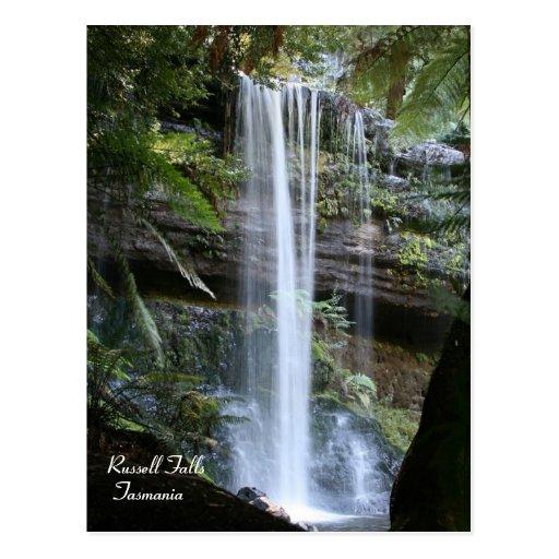 Quedas de Russell, cartão de Tasmânia, Austrália Cartões Postais