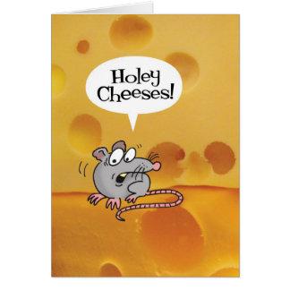 Queijos Holey Você é como idoso Cartão de aniver