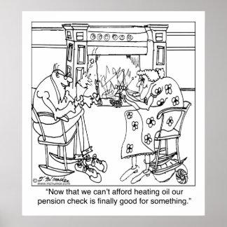 Queime sua verificação da pensão para manter-se mo pôsteres