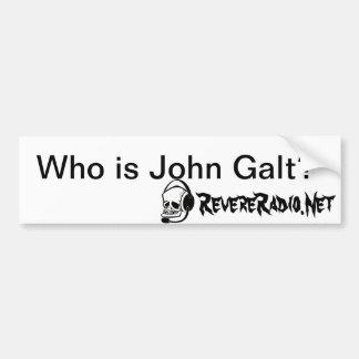 Quem é autocolante no vidro traseiro de John Galt Adesivo Para Carro
