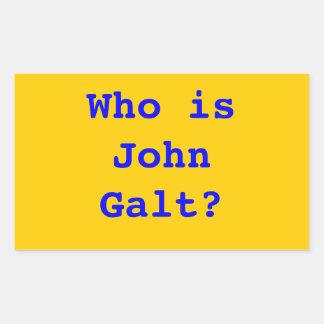 Quem é John Galt? Adesivo Retangular
