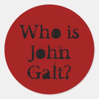 Quem é John Galt? Adesivos Redondos