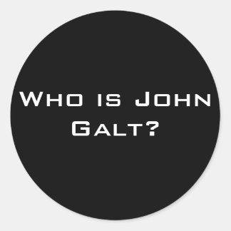 Quem é John Galt? Adesivos Em Formato Redondos