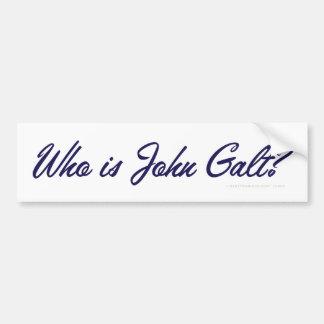 Quem é John Galt? Autocolante no vidro traseiro Adesivo Para Carro