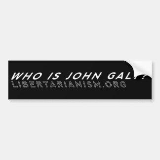 """""""Quem é John Galt?"""" Autocolante no vidro traseiro Adesivo Para Carro"""