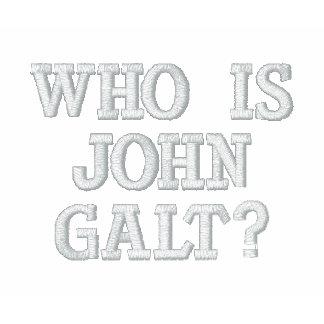 Quem é John Galt? Camiseta Bordada Polo