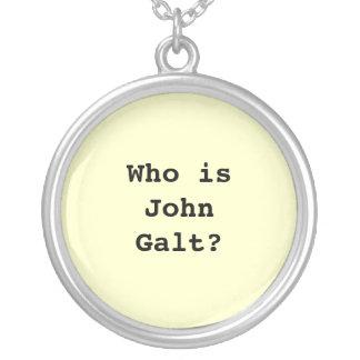 Quem é John Galt? Colar Com Pendente Redondo