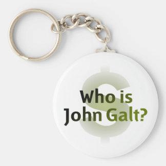 Quem é John Galt? Símbolo do dinheiro Chaveiros