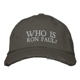 Quem é Ron Paul? Chapéu bordado Bonés