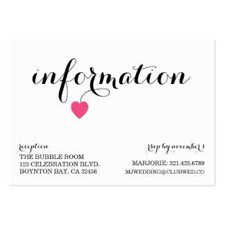 Querido que Wedding DOCES adicionais do cartão da Cartão De Visita Grande