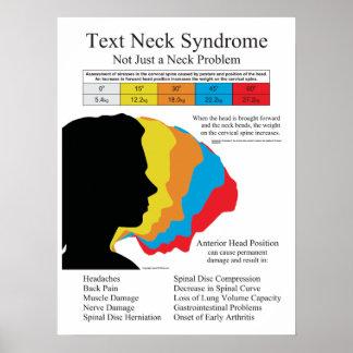Quiroterapia da síndrome do pescoço do texto em pôster