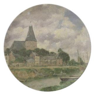 Quittebeuf, 1893 (óleo em canvas) prato