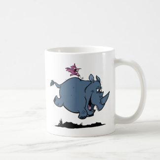 R é para o rinoceronte caneca de café