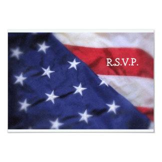 R.S.V.P. Bandeira Cartão-Americana Convite 8.89 X 12.7cm