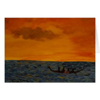 Raça de barco do dragão cartão comemorativo