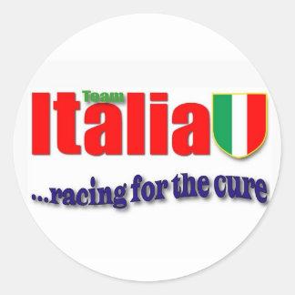 Raças de Italia da equipe para a cura Adesivo