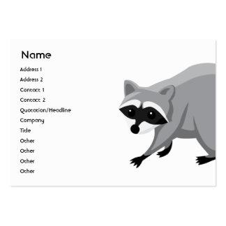 Racoon - carnudo cartão de visita grande