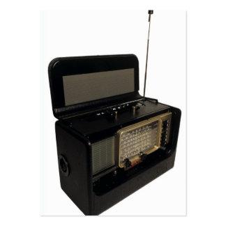 Rádio do vintage modelo cartoes de visitas