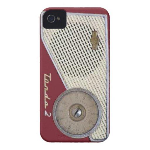 rádio retro capa iPhone 4 Case-Mate