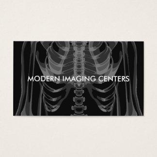 Radiologia da imagem latente médica cartão de visitas