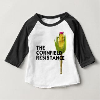 Raglan do bebê - a resistência do campo de milho tshirt