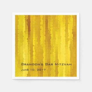 Raias amarelas de Mitzvah Techno do bar Guardanapos De Papel