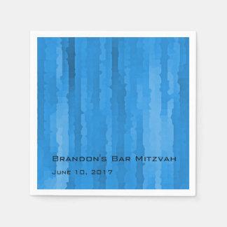 Raias azuis de Mitzvah Techno do bar Guardanapos De Papel