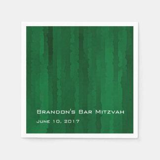 Raias esmeraldas de Mitzvah Techno do bar Guardanapos De Papel