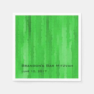 Raias verdes de Mitzvah Techno do bar Guardanapo De Papel