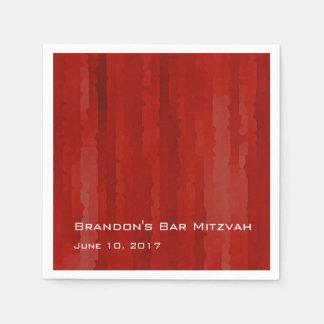 Raias vermelhas de Mitzvah Techno do bar Guardanapo De Papel