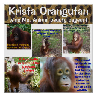 Rainha animal bonito Krista O da representação his Poster