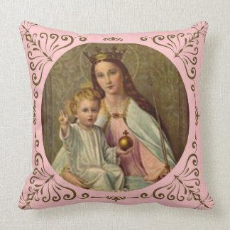 Rainha coroada do céu Jesus infantil que guardara Almofada