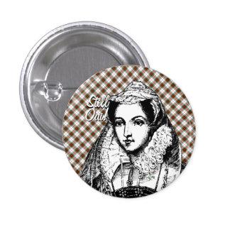 Rainha de Mary ainda sim do crachá escocês Bóton Redondo 2.54cm