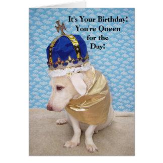 Rainha do aniversário cartão comemorativo