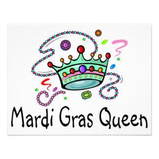 Rainha do carnaval convites personalizados