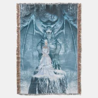 Rainha do gelo e cobertura do lance do dragão throw blanket