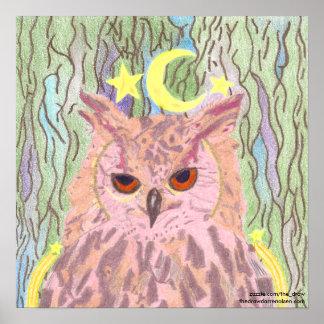 Rainha do poster feminino da coruja da noite
