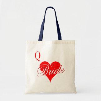 Rainha dos corações que wedding a sacola para a bolsa tote
